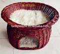 柳のペット製品m-pt010and美しい快適な・・安い籐籐ペットハウス猫のケージ