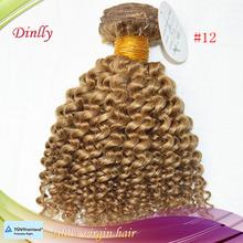 Hotsale100% peruvian hair small orders china unprocessed virgin blond kinky curly peruvian hair