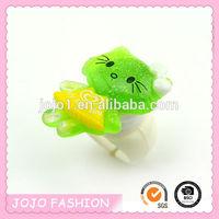 High quality Green finger ring,Hello Kitty finger ring,finger ring for kids