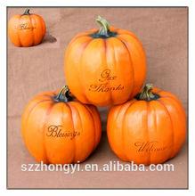 2014 China Supplier hot new products,lifelike resin artificial pumpkins,craft wholesale artificial pumpkins