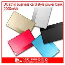 Manual for TF card Reading function & slim Card shape power bank 2000mah