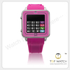 smart hand watch mobile phone with making & receiving telephone calls for samsung & iphone
