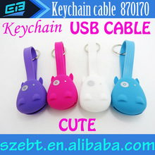Funny & Portable Keychain USB Cable for i Phone 5 Android Phones