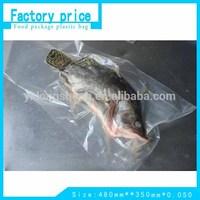 vacuum transparent plastic packaging bags for fish