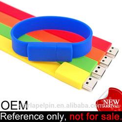 promotion cheap unique silicone bracelet USB computer accessories