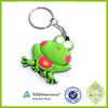 Promotional wholesale hot sale soft PVC rubber frog keychain