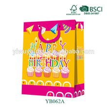 Birthday Paper Bag Manufacturer 2014 Newest Shopping Birthday Paper Gift Bag For Birthday Celebrate 100% Customize Size&Design