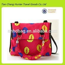 new designer colorful mouth multifunction women shoulder bag,large tote bag