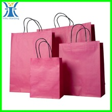 Yiwu 2015 New Arrived unique twist custom made full printing pink shopping bag strong twist Paper bag cheap