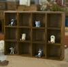 Antique storage box, Lattice saving cabinet, Wooden storage box,