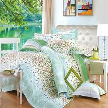 SN185 reactive printed twill fabric 100% cotton printed fabric bridal bedding set cotton sheet set made in china