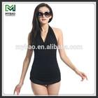 Sexy black cheap beautiful women deep v bikini swimwear