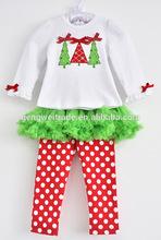 Children Christmas clothing sets,Christmas tree design.2014