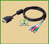 High quality vga to 3rca cable 15pin cable vga rca