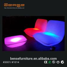 LED furniture sets modern plastic sofa LED sofa table