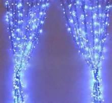 wholesale Multi color decoration led fiber optic waterfall light curtain for christmas zhongshan