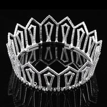 Full round circle tiara well-designed framework top Austrian crystal classic crown FC800168