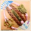 Infinity Bracelet Love Bracelet Owls Bracelet Anchor Bracelet Antique bronze Bracelet friendship bracelet infinity