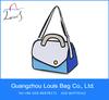 2D cartoon school bag,3D Messager Bag,quality cartoon shoulder bag