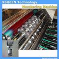 103 rotativo de la máquina de numeración xhdm720, número de lote de impresión de la máquina, impresión de numeración y perforación de la máquina