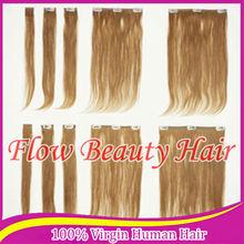 bonde color 27# silky straight malaysian virgin hair weaves for black woman