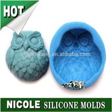 R1260 Nicole food grade 3d silicone mold owls