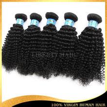 best quality 100% virgin human hair kinky curl short hair brazilian weave