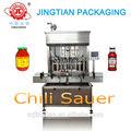 Jt1000 automático salsa de chile / pasta de chile máquina de llenado de botellas