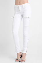 Ladies/Womens Super Skinny zip Jeans stretchy Jeans/middle rise zip Denim jeans for women