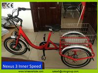 new 350w electric trike cheap electric tricycle Nexus 3 gear (KCTW002)