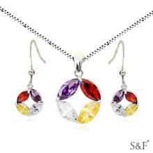 q3221894 zircon 24 carat gold jewelry sets