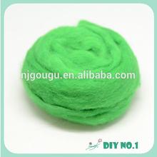 Natural bright wool fiber for needle felting animals