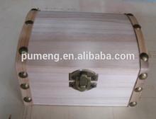Popular design plain wooden wooden treasure box
