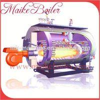 Automatic biomass wood pellet gas fired steam generator