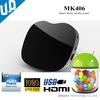 2014 hot TV box pretty design allwinner A20 dual core android tv box MK406