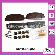 Auto Car Parts Rear Axle Disc Brake Pads for Mazda 323, 626, Premacy GGYB-26-48Z