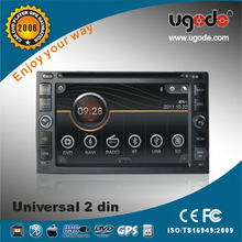 6.2'' HD double din GPS navigation in dash Touch screen Universal Car DVD player