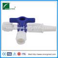 Aprobado por la ce de alta calidad de los proveedores de china 3 llave de tres vías/tres vías de la válvula de desvío desechables