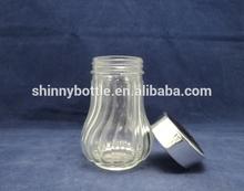 large glass spice storage canister jar set