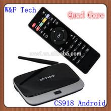 Best Google android 4.2 CS918 TV BOX HDMI Bluetooth WiFI XBMC Preinstalled android tv box atv