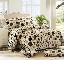 plaid style cotton bedsheet /comforter bed set
