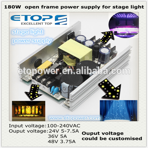 ETOP 120-180W high voltage switching power supply with small size and best price for stage light