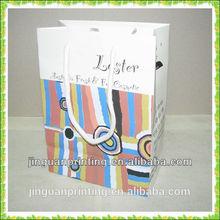 Custom logo printing paper type shopping bag/clothing bag