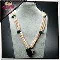joyería de fantasía de agua dulce collar de perlas para accesorios de la boda