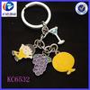 Wholesale fashion colorful custom metal key ring keychain