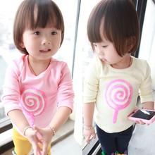 Korean children clothing wholesale children's boutique clothing fashion cotton kids clothes girls t shirt(M20457A)