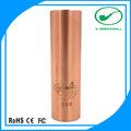 Nueva llegada 18350 / 18650 tubos de cobre rojo raya mecánica mod vaporizador de hierbas venta al por mayor reino unido