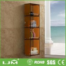 2014 china new innovative product clear wall mounted acrylic bathroom towel rack shelf