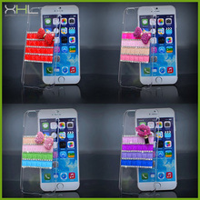 Unique luxury crystal case for iphone 6, for iphone 6 diamond case cover