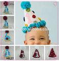 H627 bébé tricot à la main chapeau de fête d'anniversaire cadeau de noël chapeau fournisseurs en chine